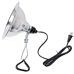 Simple Deluxe Clamp Lamp Light with 8.5 Inch Aluminum Reflector up to 150 Watt E26/E27 Socket (no Bulb Included) 6 Feet 18/2 SPT-2 Cord 17