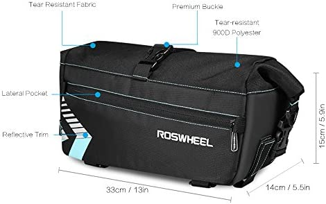 Amazon.com: Lixada Roswheel – Bolsa de transporte rack ...