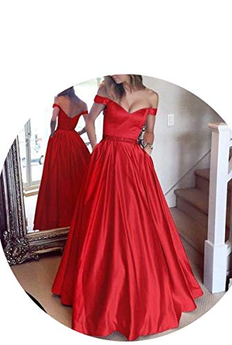 Britannico Abito Monospalla A Sera Dress Da Rosso Scollo V Imbracatura Con x7qdtXwg