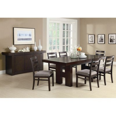 Antelope 7 Piece Dining Set in Cappuccino