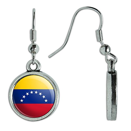 Venezuela National Costume For Women (Novelty Dangling Drop Charm Earrings Country National Flag T-Z - Venezuela National Country Flag)