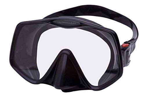 Atomic 04-0630-00 Frameless 2 Scuba Mask, Regular Fit, Black
