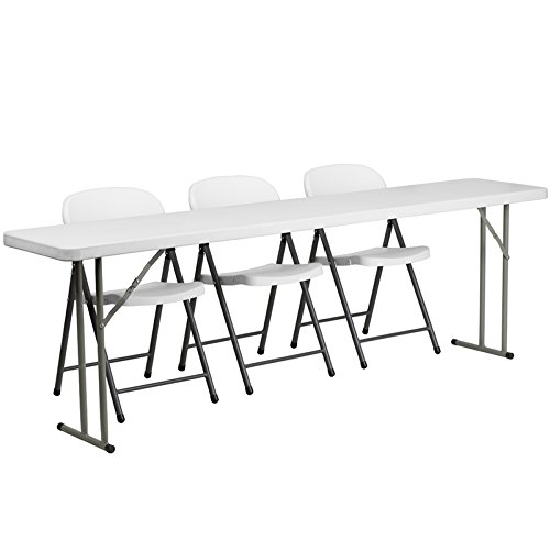 picture of 4-Pc Rectangular Folding Table Set