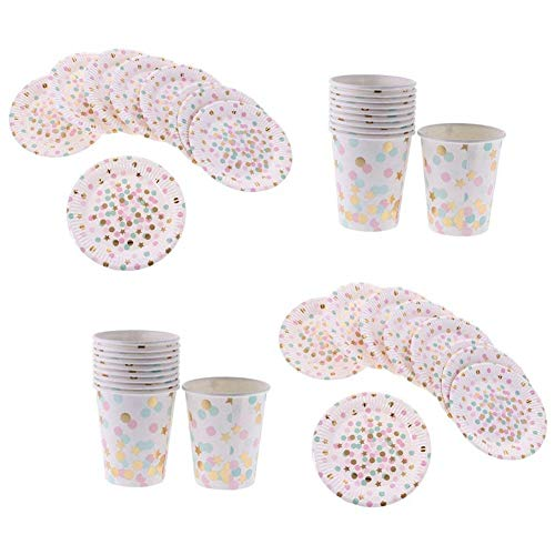 Disposable Party Tableware - Disposable Tableware Set 20pcs Plates Round Cupboard Carton Multicolored Dot Pattern - Tableware Disposable Party Disposable Party Tableware Dancer Christmas Pl