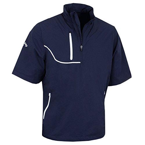 Callaway Golf Men's Gust 3 Short Sleeve Opti-Repel Windjacket - US M - Peacoat by Callaway