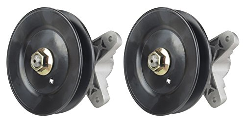 Erie Tools Two (2) Pack Lawn Mower Deck Spindle Assembly Fits Cub Cadet RZT Series 1170, 1600, 1800, 918-0427C, 618-0324, 918-04197