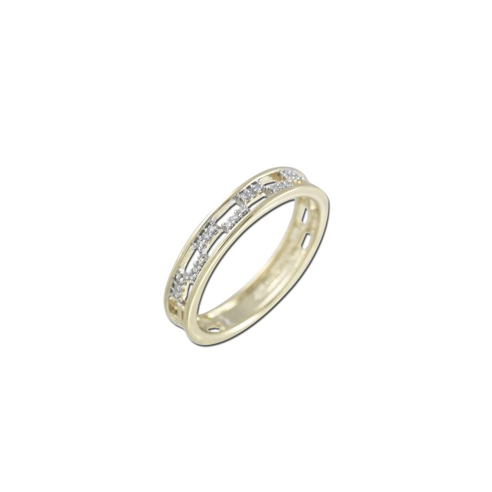 14K Yellow Gold Diamond Ring Diamond quality AA (I1 I2 clarity, G I color)