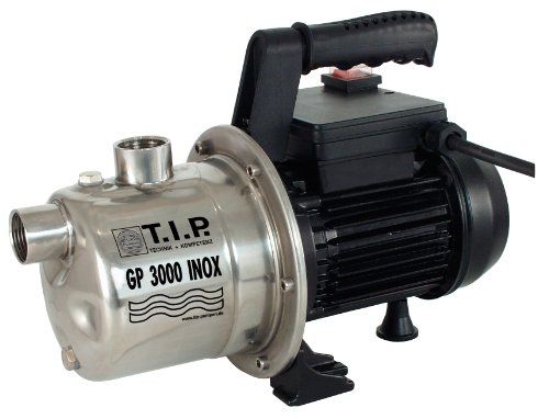 T.I.P. 30111 Gartenpumpe Edelstahl GP 3000 Inox, bis 2.950 l/h Fördermenge