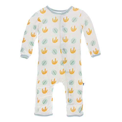 Kickee Pants Little Boys Print Coverall with Snaps - Trilobites, 9-12 Months