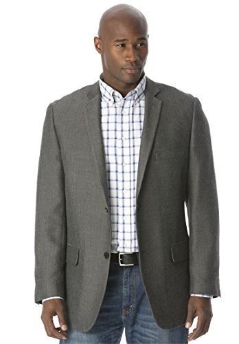 Liberty Blues Men's Big & Tall Holiday Blazer, Herringbone Big-54 Big Tall Blazer