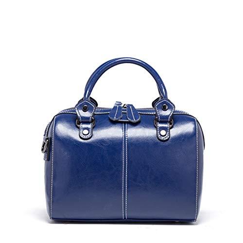 Mensajero De Moda color Blue Del La Bolso Almohada Kervinzhang Manera Dark Cuero Gray R05Zgqw