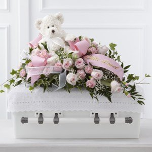 Touch of Sympathy Casket Spray - Fresh Flowers Hand Delivered in Albuquerque Area