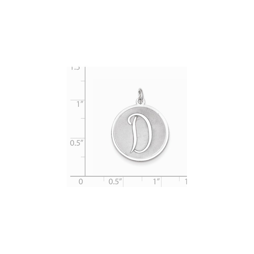 Sterling Silver Brocade-Like Initial D Charm