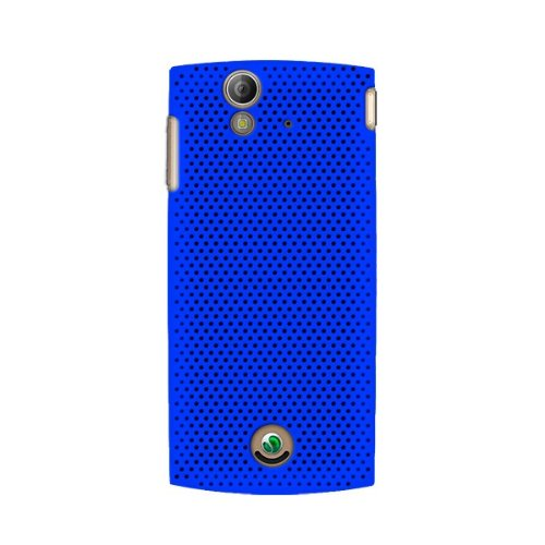 KATINKAS 2108044312 Hard Cover for Sony Ericsson Xperia Ray - Air - 1 Pack - Retail Packaging - Blue (Ericsson Sony Xperia Case Ray)