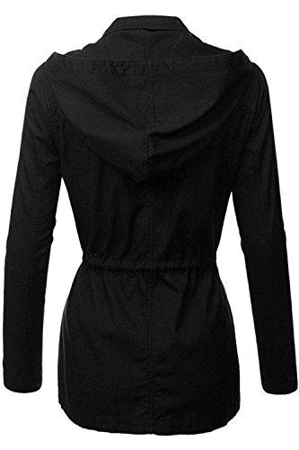 d96b96ea3f8 Fashion Boomy Womens Zip Up Military Anorak Jacket W Hood ...
