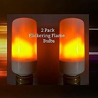 LightLady Studio, Flickering Flame LED Bulb, Set of 2, Fire Bulbs, Simulated Gas Flame Light Bulbs