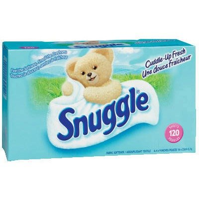SNUGGLE Box Dryer Sheets, 6 Pack, 120 Sheets/Pack