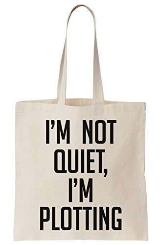 I Am Not Quite I Am Plotting Canvas Tote Bag