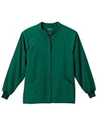 Jockey Classic Fit Collection Unisex Snap Front Warm up Solid Scrub Jacket