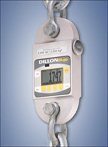 EDx-2T Dillon EDxtreme Dynamometer with two shackles Backlight 5 000 lbf Capacity - 36188-0040 by Dillon