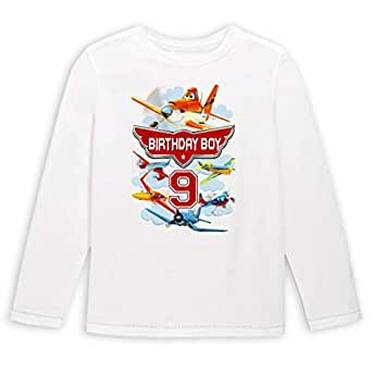Disney Planes Birthday Boy 9 Long-Sleeved T-Shirt