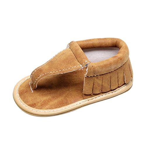 Amanod Children Baby Casual Tassels Sandals Summer Solid Sole Crib Hollow Shoes Sneaker