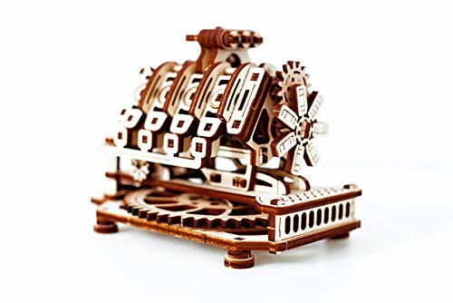 Wooden.City V8 Engine Mechanical Model Kit 14 x 10 x 10.7 cm. (Engine Assembly Kits Entire)