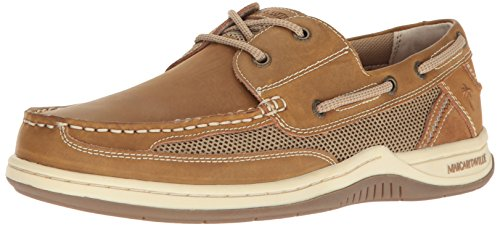 Margaritaville Men's Anchor Lace Boat Shoe, Light Tan, 10.5 (Worth Stores Fort Outdoor)