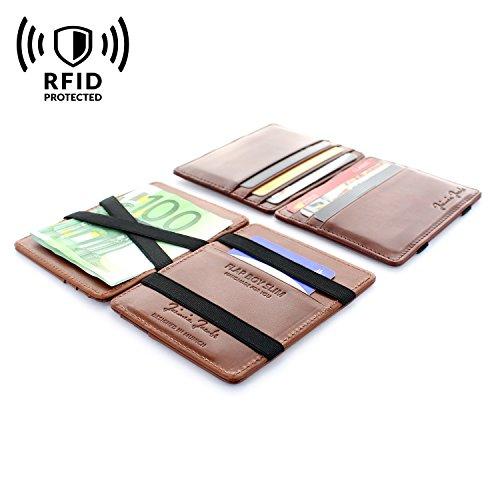 Front Slim Brown Flap Jacobs Boy Jaimie Pocket Wallet Dark Magic RFID xqIfPP