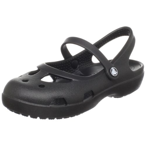Crocs Shayna Mary Jane Clog (Toddler/Little Kid),Black,7 M US Toddler by Crocs