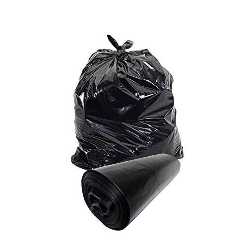 BWS 100 x Heavy Duty Black Refuse Sacks Wheelie Bin 30 x 46 x 54 90g