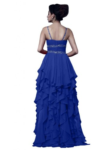 Gowns Blue lunga formale Chiffon Royal taglia in Sunvary Spaghetti TzfpwqzFn