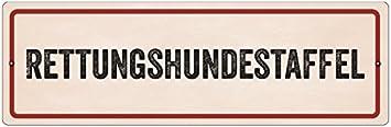 Interluxe Kunststoffschild Mit Saugnapf Rettungshundestaffel Autoschild Warnschild Hund Auto