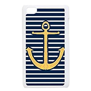 Navy Stripes Anchor For Ipod Touch 4 Phone Cases HTY907948