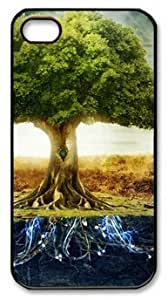Abstract Tree Vitality DIY Hard Shell Black iphone 4/4s Case Perfect By Custom Service hjbrhga1544