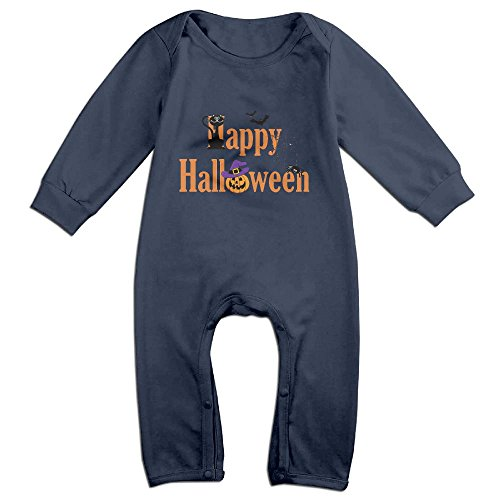 Halloween Newborn Baby Long Sleeves Climbing Clothes Boy's & Girl's Romper Jumpsuit Size 6 M Navy Fashion (Mother Lover Halloween Costumes)