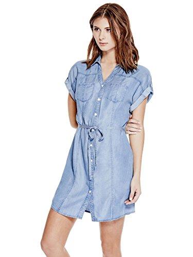 GUESS 13315932 Maren Chambray Shirtdress