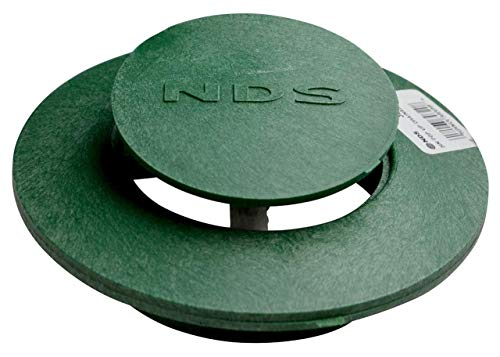 NDS 420 Pop Up Drain Emitter Cover Spring Loaded 3 Inch and 4 Inch Green OEM Replacement Lawn Drainage Cover ()