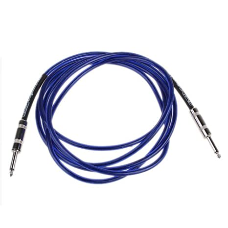 10 FT Cable Cable amplificador para guitarra Fender - Azul: Amazon.es: Instrumentos musicales