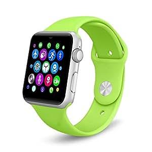 Austec 2016 caliente DM09 LF07 Bluetooth Smart Watch 2,5 D arco pantalla HD soporte SIM tarjeta SmartWatch magia perilla para IOS Android