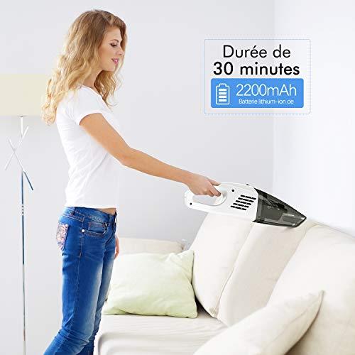aspirateur main sans fil rechargeable 9000pa excelvan. Black Bedroom Furniture Sets. Home Design Ideas