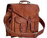 KPL 18 Inch Rustic Vintage Leather Messenger Bag
