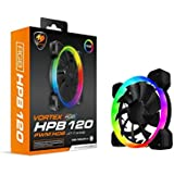 Cougar Hydraulic Vortex RGB HPB 120 PWM HDB, 120 mm Cooling Fan, Included Adapter to Connect Directly 5V RGB Connection to Compatible motherboards