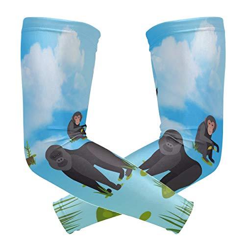 Anyangquji Orangutan Arm Sleeve Protectiv for Man Elbow Brace for Arthritis (1 Pair)