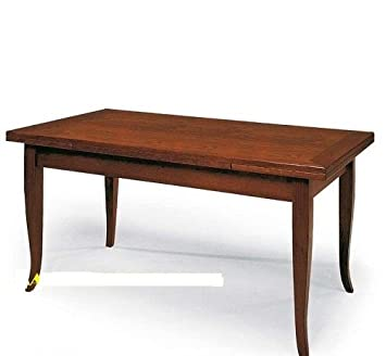 Emilio Vollero Table Rectangulaire Extensible Bois Massif