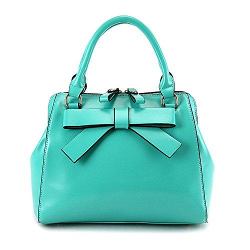 Nuova moda qckj Croce Corpo Borsa a tracolla borsa PU fiocco donna blu