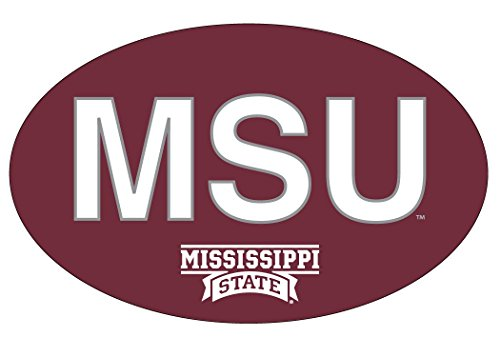 Bulldogs Letter (MISSISSIPPI STATE BULLDOGS BLOCK LETTER DESIGN OVAL DECAL-MISSISSIPPI STATE STICKER-NEW FOR 2016)