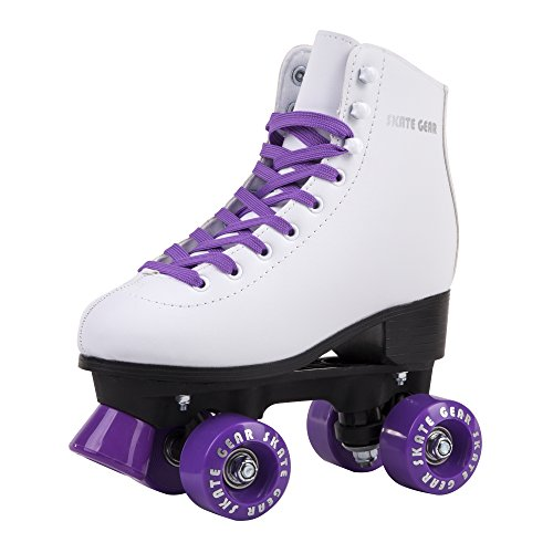 Cal 7 All-Purpose Indoor Outdoor Speedy Roller Skate for Youth and Adults (Purple, Youth 4 / Women's 5) by Cal 7