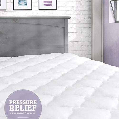 (eLuxurySupply Pressure Relief Mattress Pad with Fitted Skirt |Bedsore Prevention Mattress Pads | Hypoallergenic Mattress Topper | Made in The USA, Queen)