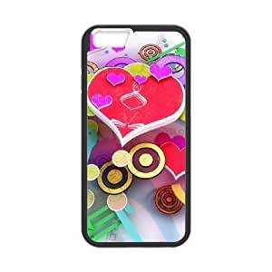 iphone6 plus 5.5 inch phone cases Black Heart Pattern cell phone cases Beautiful gifts TWQ06679443